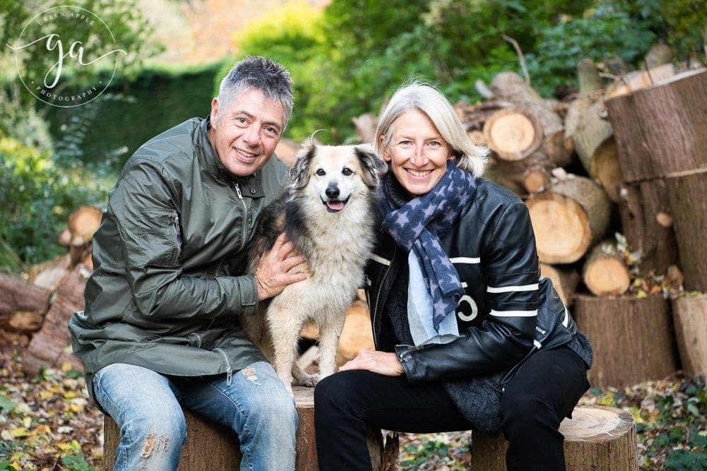 Somerset outdoor family shoot with dog