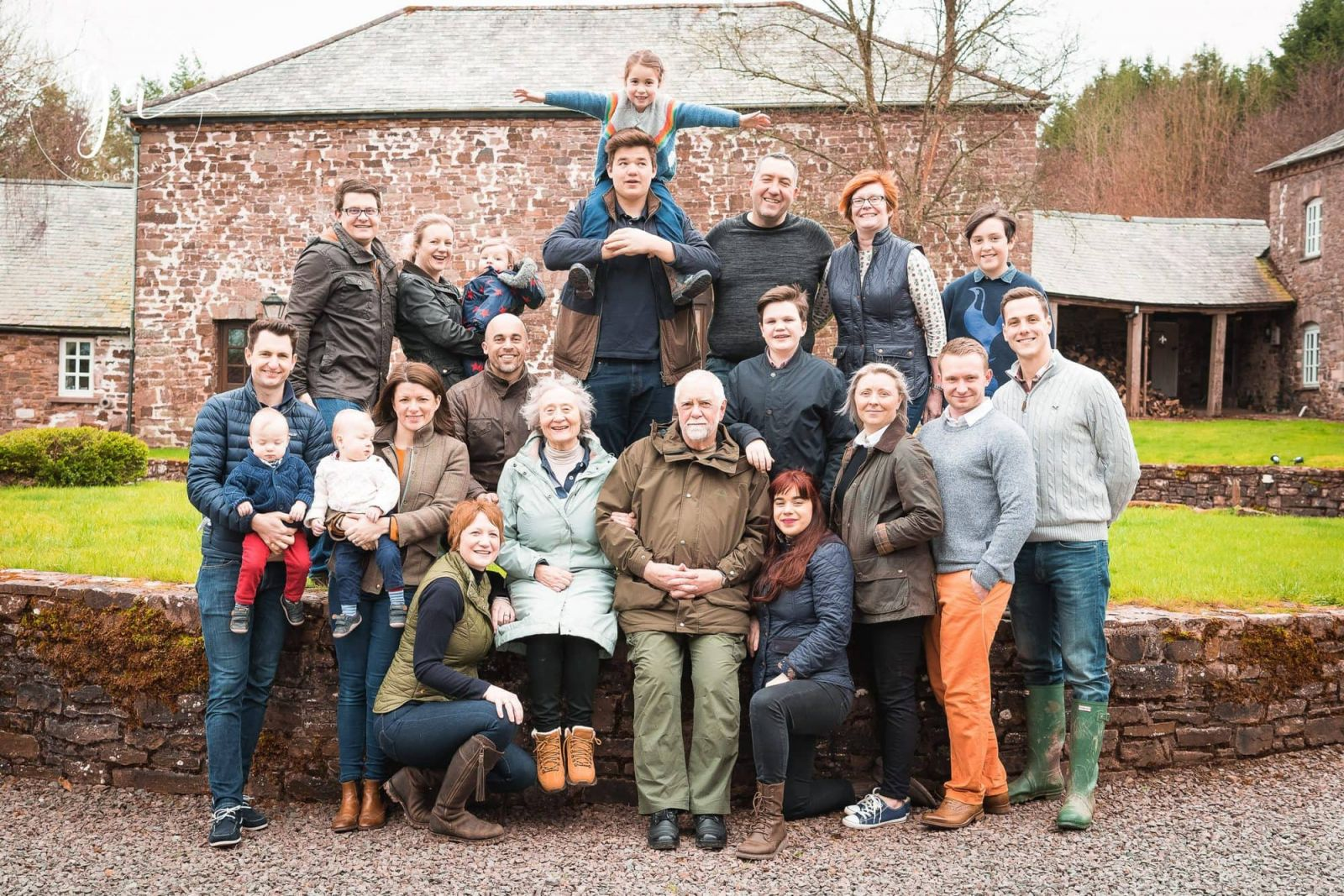 large family photograph taken outdoors in somerset